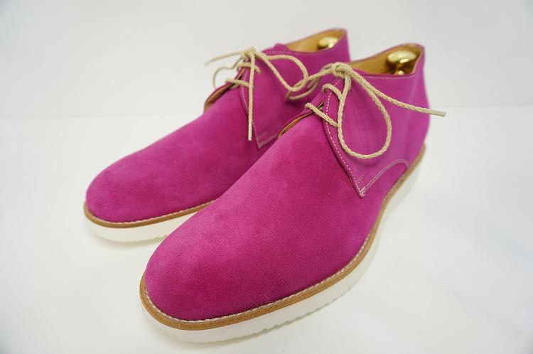 【ロッソフィオレンティーノ・ブーツ】ピンク/6595/イタリア/スエード/メンズ/10P03Sep
