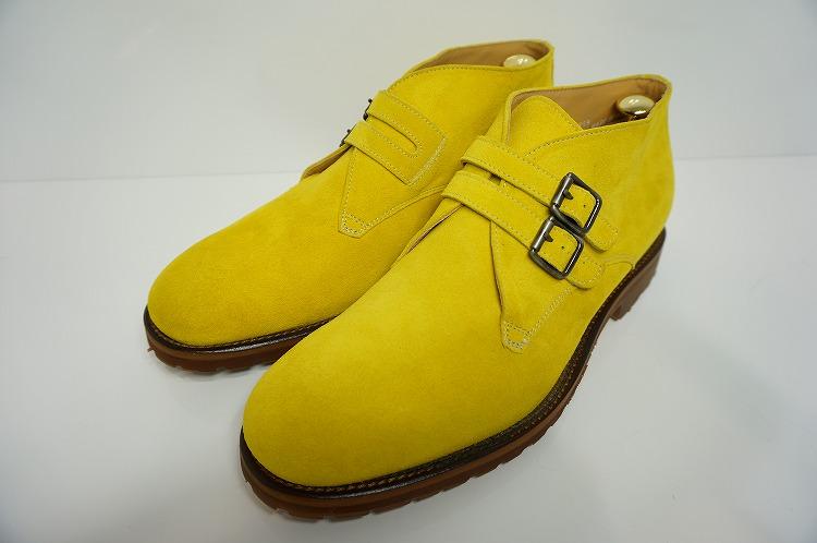 【ロッソフィオレンティーノ・ブーツ】イエロー/指し色/イタリア/スエード/メンズ/10P03Sep/455