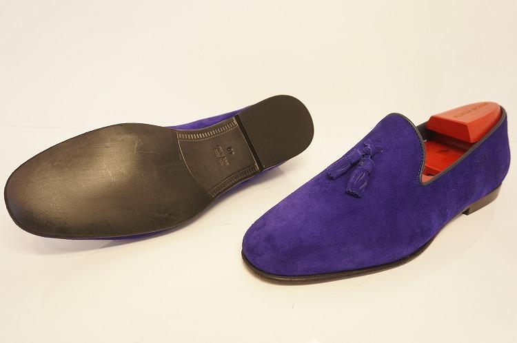 ロッソフィオレンティーノ・スリッポン コバルト 紫 イタリア スエード メンズ 2085 10P03Sep1654AjRL