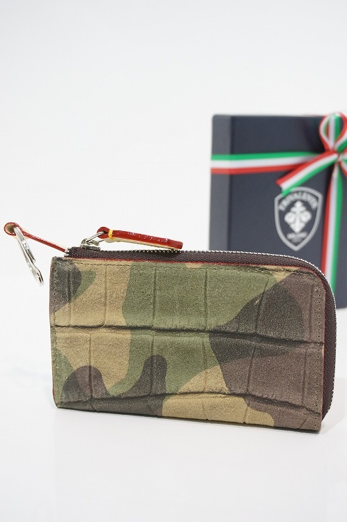 トリヴァレンテ キーケース TRIVALENTE KEYCASE CAMOUFLAGE コインケース カモフラージュ 迷彩 イタリア 革 レザー ビジネス 上質 プレゼント 就職祝い  10P03Sep16