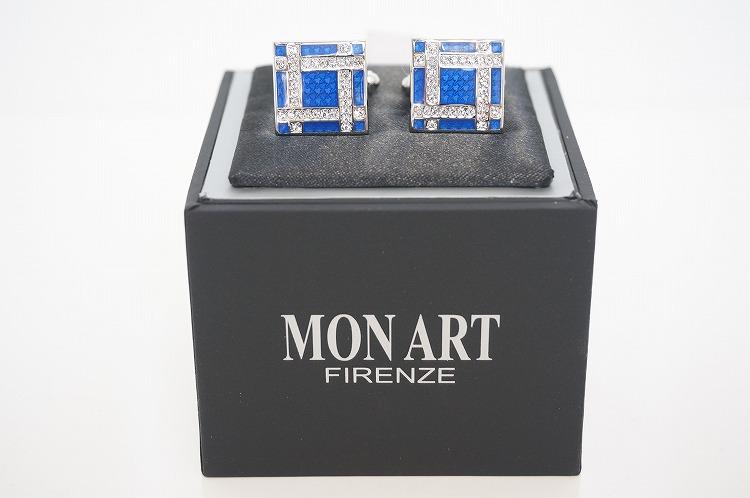 【MONART cuff Link12(モンアート  カフリンクス12)】 カフス おしゃれ ラグジュアリー プレゼント アクセサリー 青 ブルー 上質 ビジネス プライベート  10P03Sep16