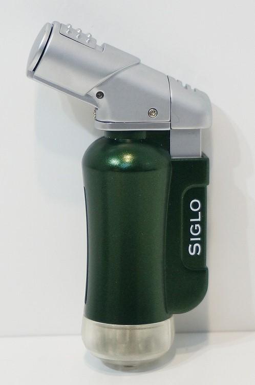 SIGLO LIGHTER MINITORCH JAGUARGREEN シグロ社製ターボライター ミニトーチ ジャガーグリーン ターボ 風に強い アウトドア 上質 確実な着火 ラグジュアリー感 プレゼント 誕生日  父の日