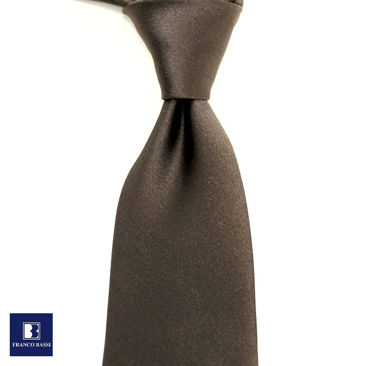 フランコバッシ ネクタイ FRANCO BASSI tie メンズ ベージュ 無地 ソリッド シルク100% イタリア Itary プレゼント ギフト ラッピング ブランド 送料無料 正規品 直輸入 数量限定 父の日