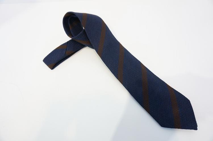 フランコバッシ ネクタイ FRANCO BASSI tie メンズ 斜めボーダー シルク100% ネイビー紺/ブラウン イタリア Itary プレゼント ギフト 送料無料 正規品 直輸入 数量限定 父の日 tie_18017