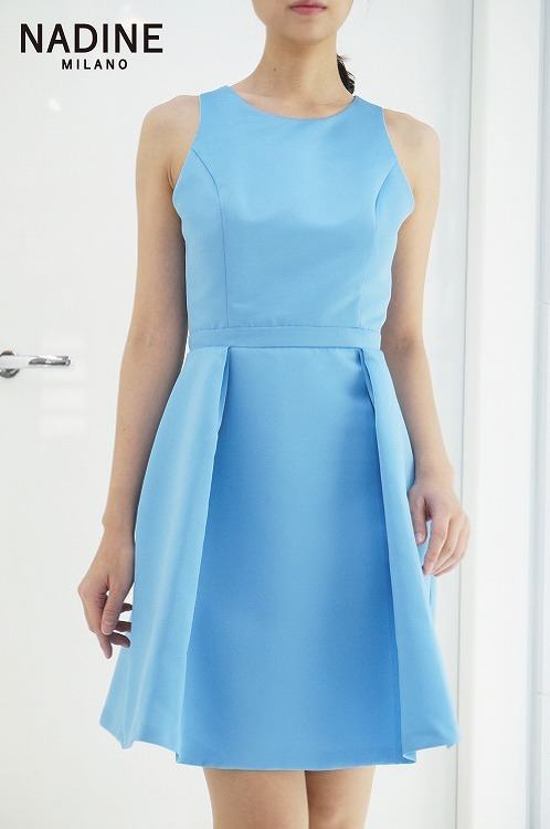 30%OFF SALE! 【NADINE ワンピース スカイブルー 】ナディーヌ インポート イタリア ドレス  結婚式 パーティー  10P03Sep16