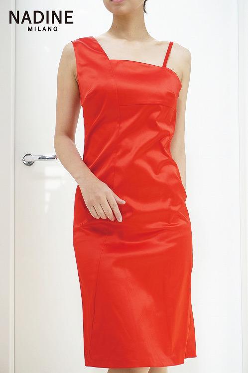 30%OFF SALE! 【NADINE ワンピース レッド 】ナディーヌ インポート イタリア ドレス  結婚式 パーティー  10P03Sep16