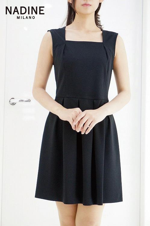 30%OFF SALE! 【NADINE ワンピース ブラック 】ナディーヌ インポート イタリア ドレス  結婚式 パーティー  10P03Sep16