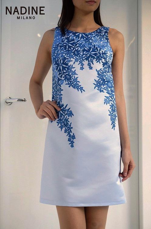 30%OFF SALE! 【NADINE ワンピースalbania-6ブルー】ナディーヌ インポート イタリア ドレス  結婚式 パーティー  10P03Sep16