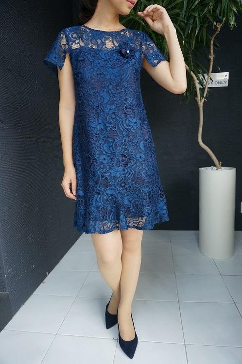 30%OFF SALE! 【NADINE aw_elmo-1】ナディーヌ インポート イタリア ドレス  結婚式 パーティー ブルー 10P03Sep16