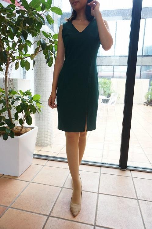 30%OFF SALE! 【NADINE aw_0322ape-3】ナディーヌ インポート イタリア ドレス グリーン 結婚式 パーティー  10P03Sep16