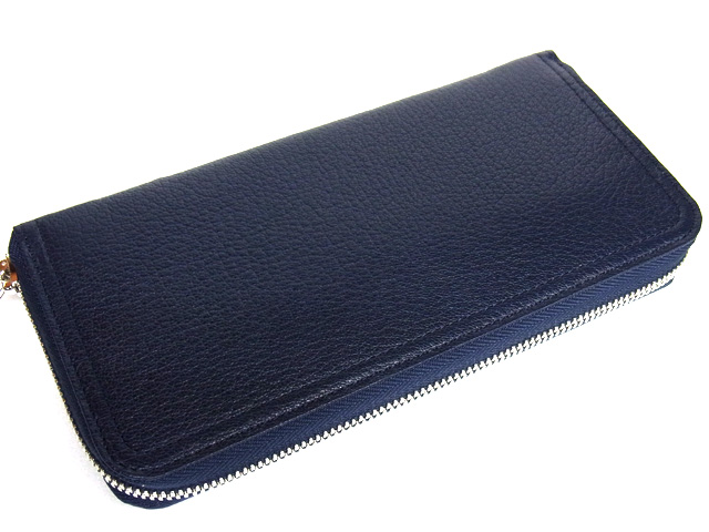 ポーター 吉田カバン DOUBLE ダブル ジップロングウォレット ネイビー×ホワイト 送料無料でお届けします 送料無料 楽ギフ包装 蔵 wallet