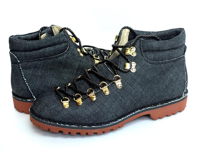 Fracap フラカップ イタリアメイド Mountain Boots マウンテンブーツ M127 ブラックデニム 送料無料