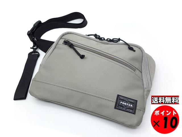 ポーター 吉田カバン FRONT フロント WAIST BAG ウエストバッグ 687-17032 グレー 【あす楽対応】