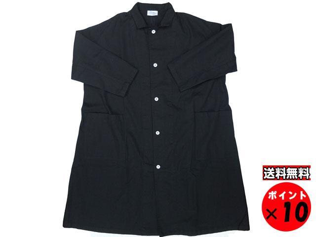 19S/S yarmo ヤーモ 英国製 Lab Coat ラボコート ブラック 送料無料 【あす楽対応】