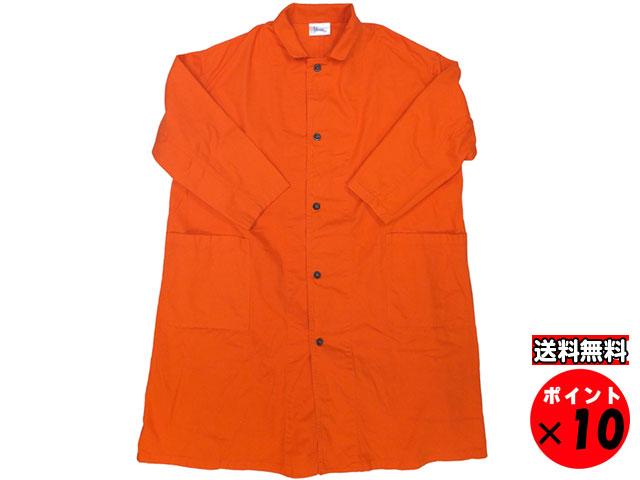 19S/S yarmo ヤーモ 英国製 Lab Coat ラボコート オレンジ 送料無料 【あす楽対応】