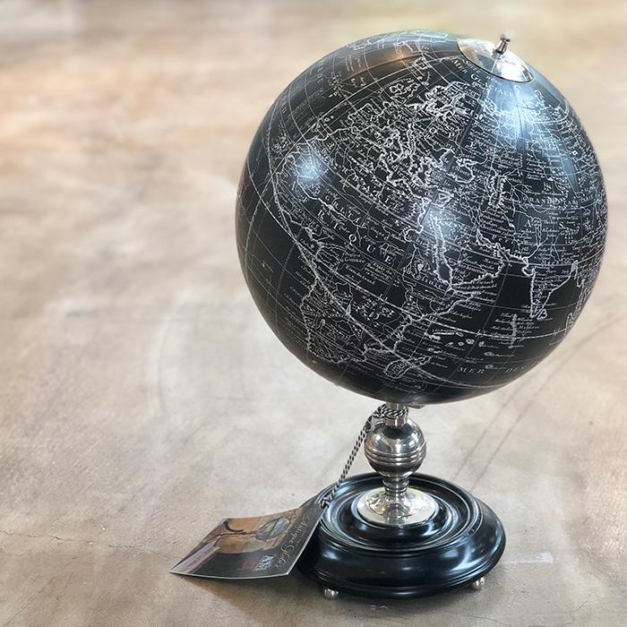 北欧雑貨 地球儀 ブラック