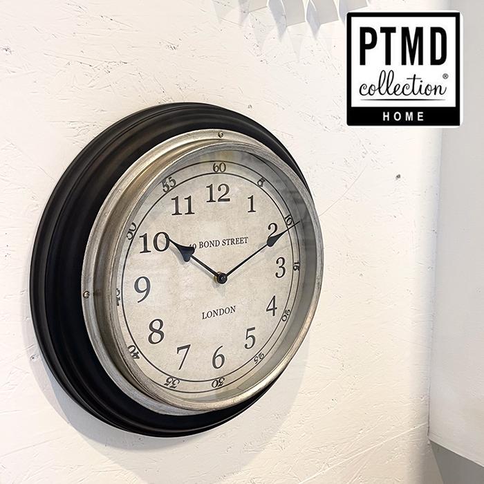 北欧雑貨 北欧 時計 ラウンド 壁掛け シンプル ブラック