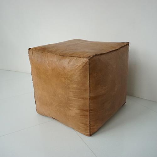 北欧雑貨 家具 茶色 四角 レザー 椅子