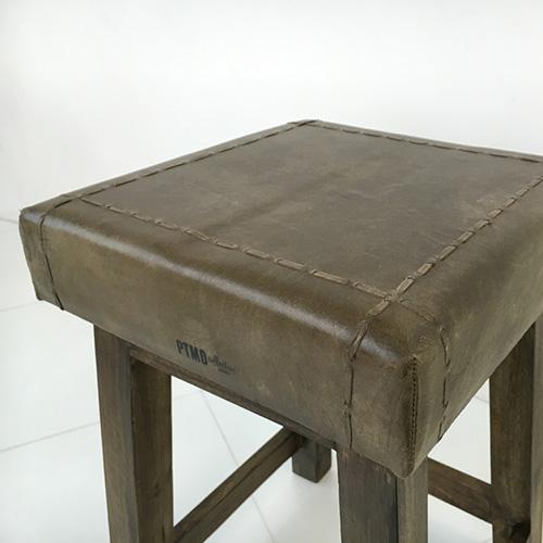 椅子 スツール ハイスツール 茶色 ブラウン レザー 革