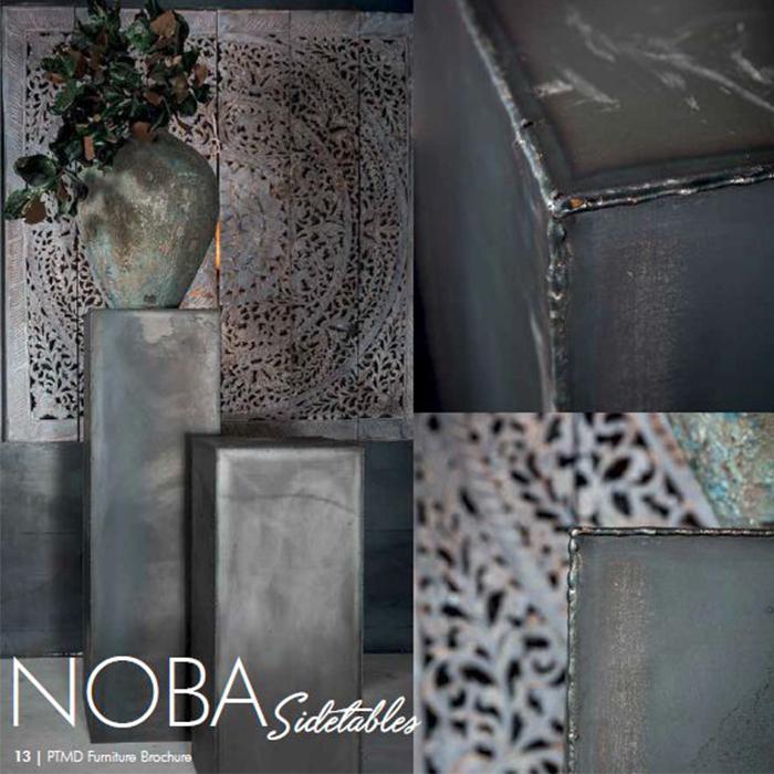 花びん 花瓶 花器 NOBA ディスプレイ台 スチール Lサイズ ブラック