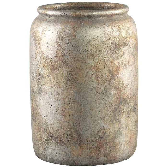 北欧雑貨 花びん 花瓶 花器 フラワーベース FINLEY セメント Lサイズ ブラウン