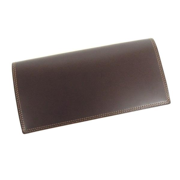 コードバン 長財布 札入れ 小銭入れ付き 馬の腰部の革 CO-27 チョコ