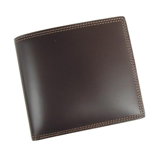 コードバン 財布 二つ折り 小銭入れ付き 馬の腰部の革 CO-2 チョコ