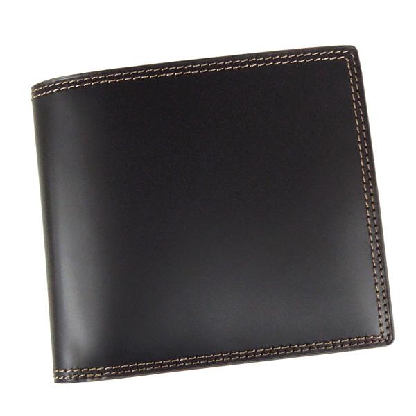 コードバン 財布 メンズ 二つ折り 馬の腰部の革 CO-3 ブラック