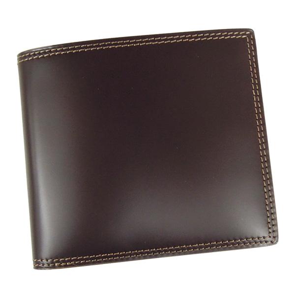 コードバン 財布 二つ折り 馬の腰部の革 CO-3 チョコ