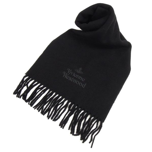 【並行輸入品】 ヴィヴィアン ウエストウッド マフラー メンズ レディース 11151-N401 ブラック Vivienne Westwood