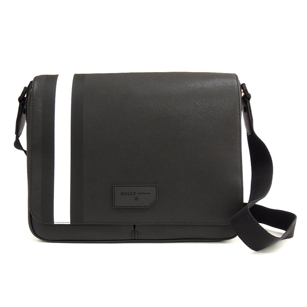 【並行輸入品】 バリー バッグ STRAD 0F/0 ブラック+ホワイト BALLY