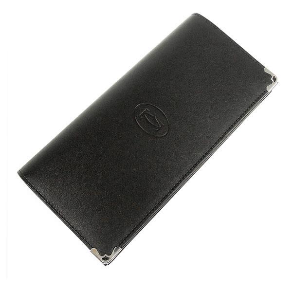 【並行輸入品】 カルティエ Cartier 財布 メンズ 長財布 小銭入れ付き マスト ドゥ カルティエ L3001363 ブラック