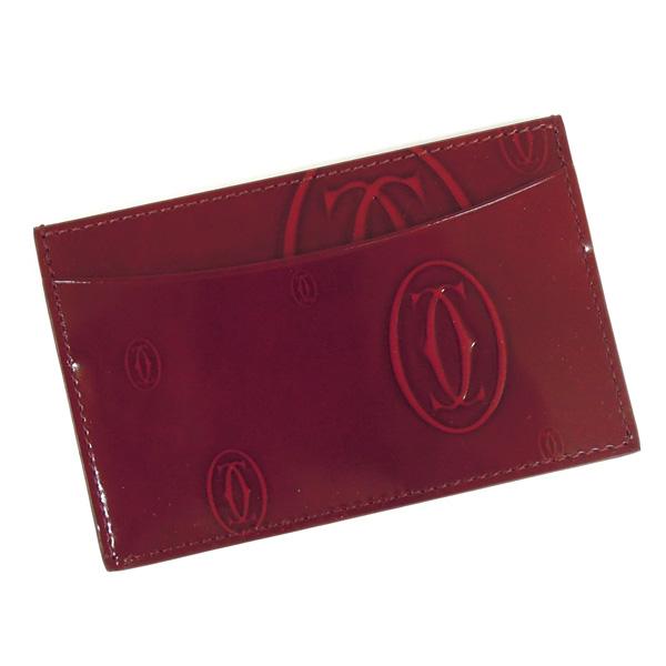 【並行輸入品】 カルティエ カードケース ハッピーバースデー L3001476 ルビー(ボルドー) Cartier