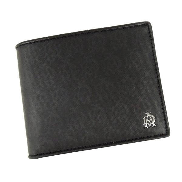 【並行輸入品】 ダンヒル 財布 ウィンザー ブラック L2PA32A ブラック 小銭入れ付き 二つ折財布 dunhill