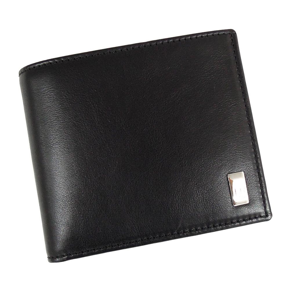 【並行輸入品】 ダンヒル 財布 メンズ サイドカーブラック QD3070A ブラック 小銭入れ付き dunhill