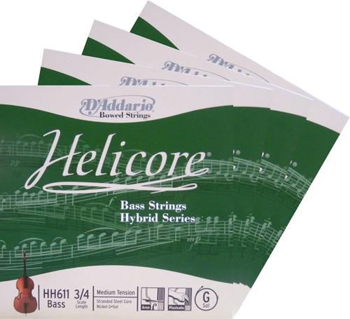 Helicore Hybrid ヘリコアハイブリッド バス弦 SET