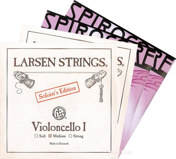 ポジティブおすすめ!チェロ弦SET【8】<ラーセンソリスト+スピロコア(タングステン巻)>