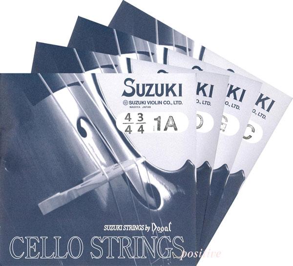 Suzuki スズキ チェロ弦(Dogal) SET 各サイズ