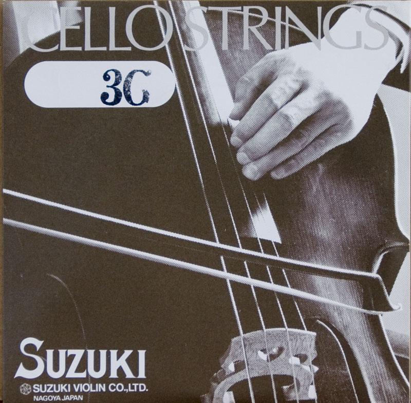 アウトレット商品 【旧パッケージ】【Suzuki】スズキ チェロ弦 3G 1/4サイズ