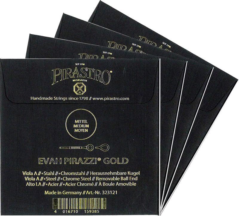 【Evah Pirazzi Gold】エヴァピラッツィ ゴールド ビオラ弦SET