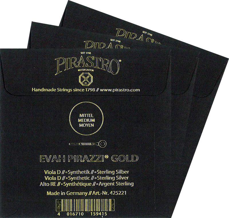 【Evah Pirazzi Gold】エヴァピラッツィ ゴールド ビオラ弦 2A・3D・4Gセット