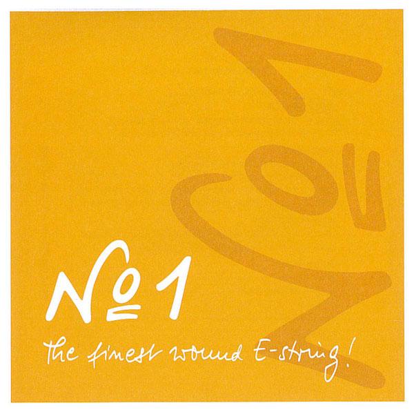 ピラストロ社が自信を持って開発した弦。 【Pirastro No.1】ピラストNo.1バイオリン弦 1E(3115/3112)