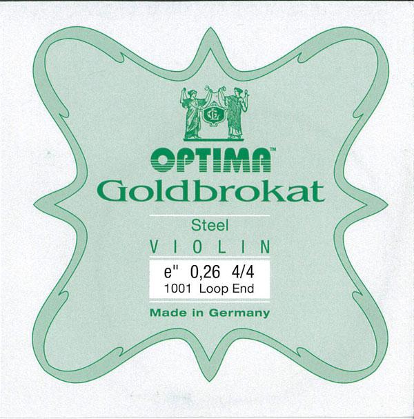 訳あり商品 力強く伸びのある音色 Lenzner Goldbrokat 1E ゴールドブラカットバイオリン弦 超激安