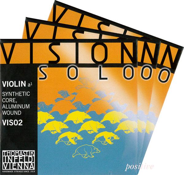 Vision Solo ヴィジョン ソロバイオリン弦 2A 3D 最新アイテム セット シルバー巻 出色 4G