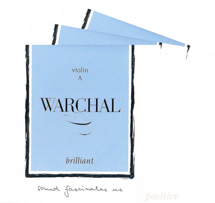 Warchal Brilliant ワーシャル ブリリアントバイオリン弦 2A 海外限定 3D 物品 903S シルバー巻 セット 4G 取り寄せ商品