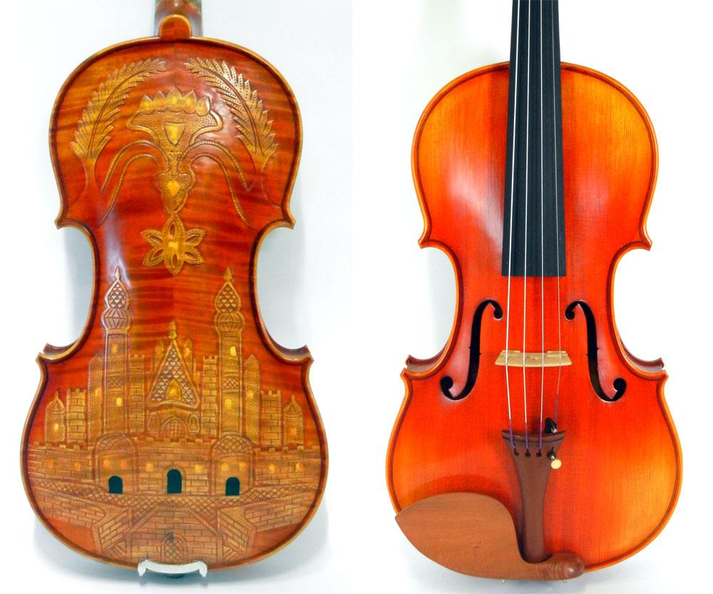 【1本限りの限定販売!】彫刻入りバイオリン 4/4サイズ