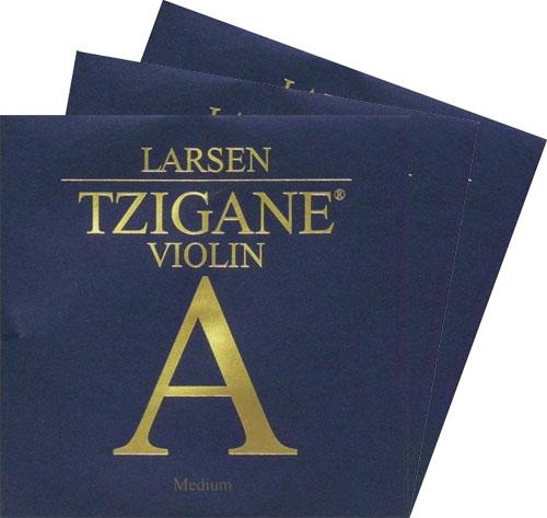 ざらつき感が抑えられた柔らかい音色 Larsen Tzigane 売り出し 輸入 ラーセン ツィガーヌバイオリン弦 セット 3D 2A 4G