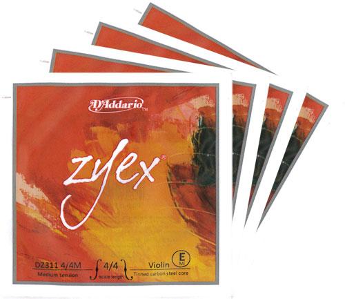 Zyex ◆高品質 ☆送料無料☆ 当日発送可能 ザイエックスバイオリン弦 セット