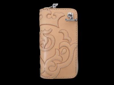 Atelier Mark Overlay Saddle Leather Round Zip Wallet (Natural) [RZ-01] GABORATORY GABOR ガボール ガボラトリー silver 正規代理店 シルバー ゴールド メンズ アクセサリー ペンダント シルバー925 10k 18k