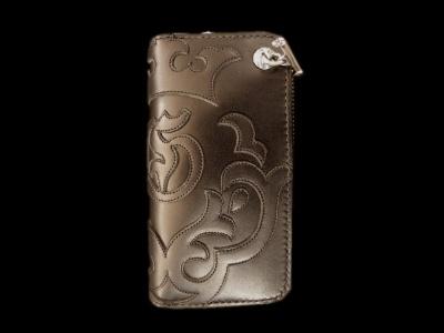 Atelier Mark Overlay Saddle Leather Round Zip Wallet (Black) [RZ-03] GABORATORY GABOR ガボール ガボラトリー silver 正規代理店 シルバー ゴールド メンズ アクセサリー ペンダント シルバー925 10k 18k